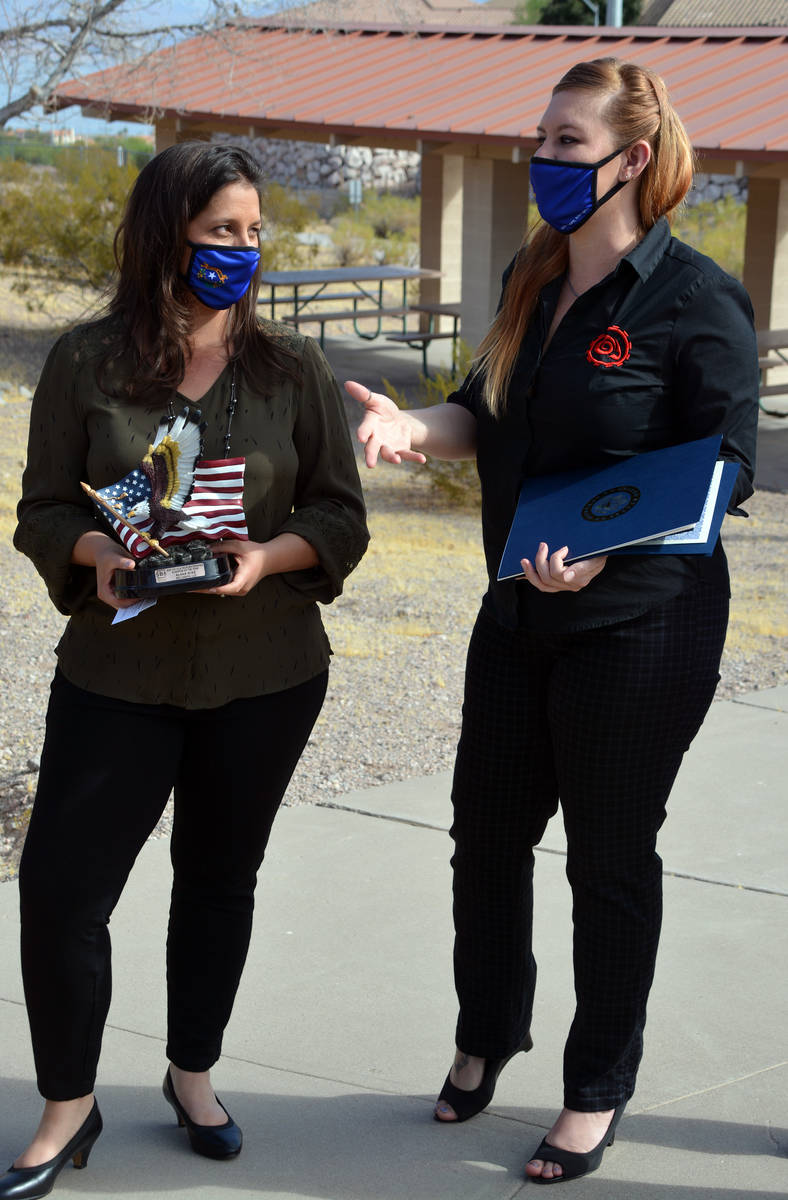 Celia Shortt Goodyear/Boulder City Review Get Biological CEO Alana Wise, left, and Chief Operat ...