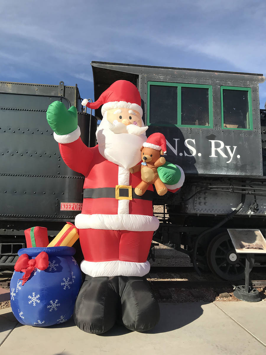 The Nevada Southern Railway is presenting the Boulder City Santa Express this year instead of i ...