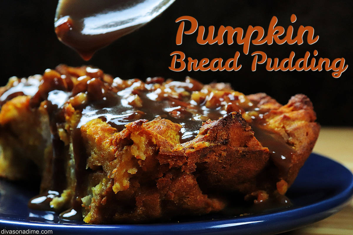 (Patti Diamond) Pureed pumpkin gives bread pudding a seasonal twist, making the nostalgic comfo ...