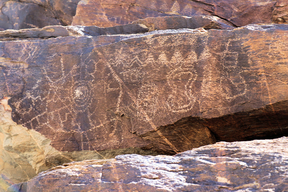 (Alan O'Neill) Petroglyphs can be found near Hiko Springs in the proposed Avi Kwa Ame Na ...