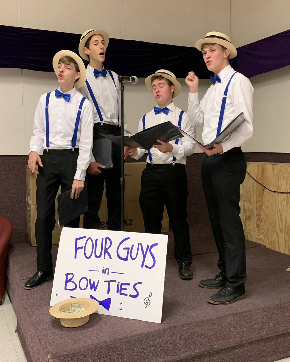 (Hali Bernstein Saylor/Boulder City Review) Four Guys in Bow Ties, a barbershop quartet from Ba ...
