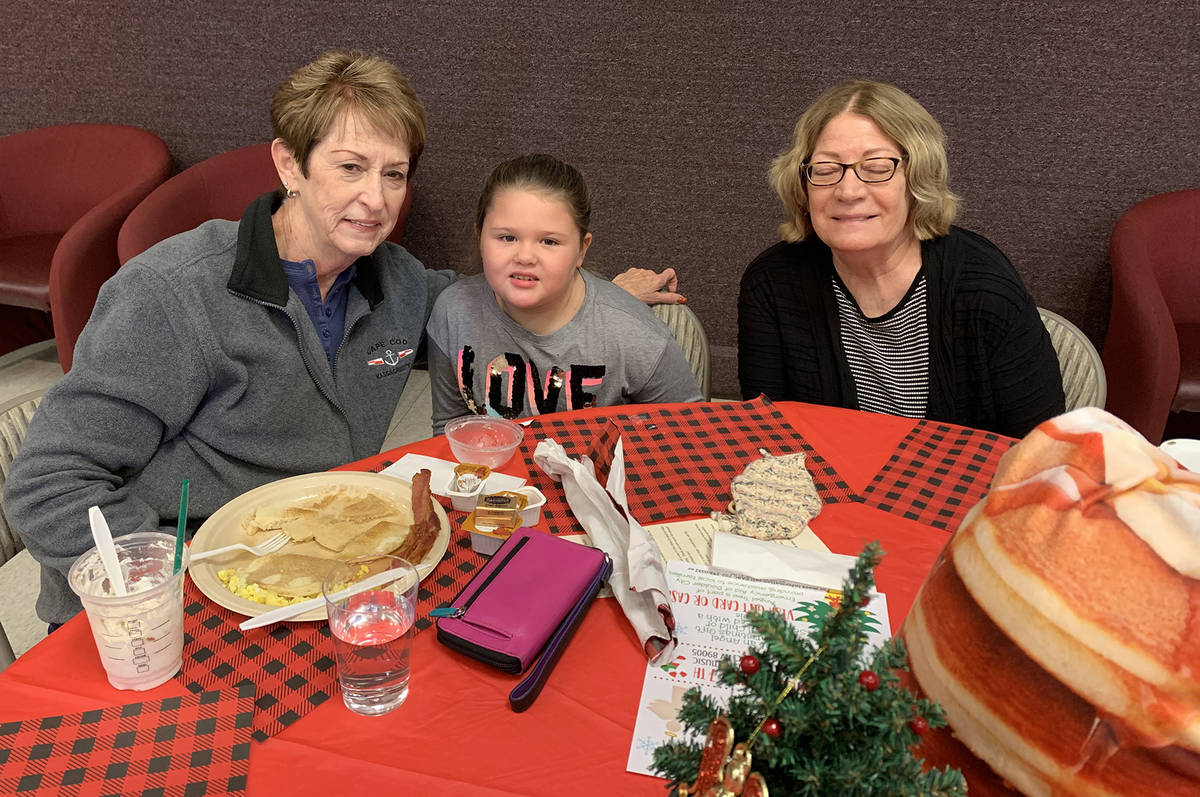 (Hali Bernstein Saylor/Boulder City Review) Attending the pancake breakfast at Boulder City Elk ...
