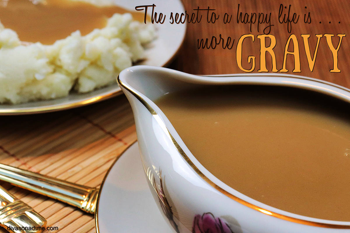 (Patti Diamond) A bit of extra gravy can help fix a variety of problems you may encounter, such ...
