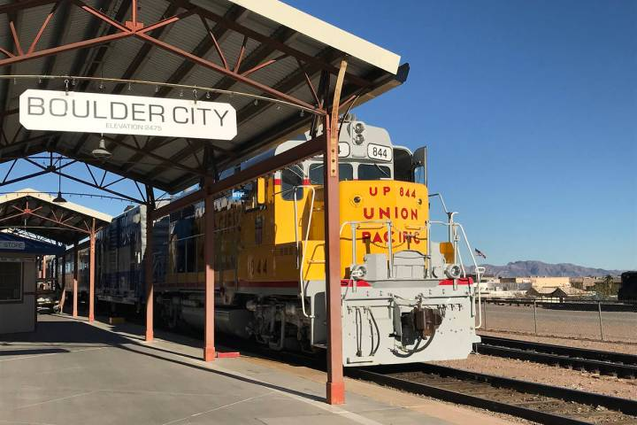 The train depot at the Nevada State Railroad Museum in Boulder City is still open to visitors, ...
