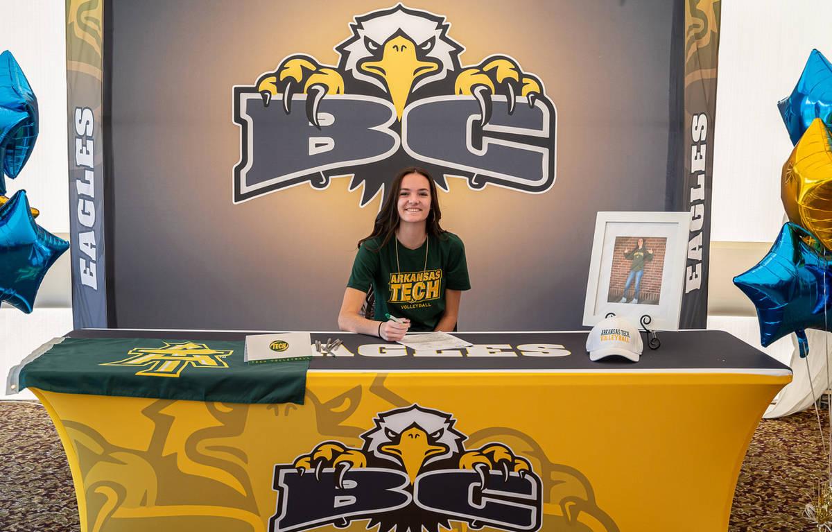 (Jamie Jane/Boulder City Review) Sierra Orton, a senior at Boulder City High School, is headed ...
