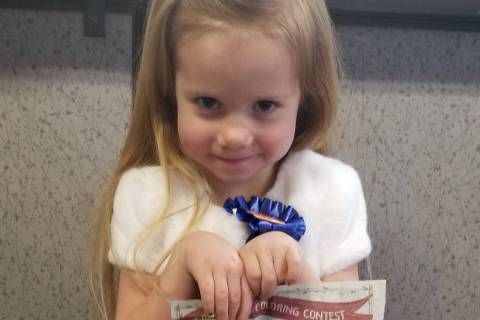 Celia Shortt Goodyear/Boulder City Review Saylor Wilkinson, 4, earned first place in her age di ...