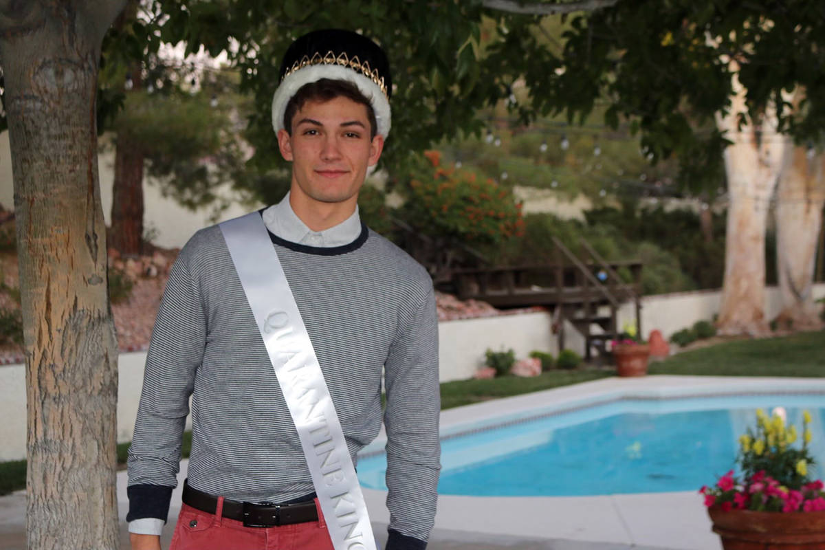 Boulder City High School Senior Seth Woodbury is the 2020 Homecoming King for Boulder City High ...