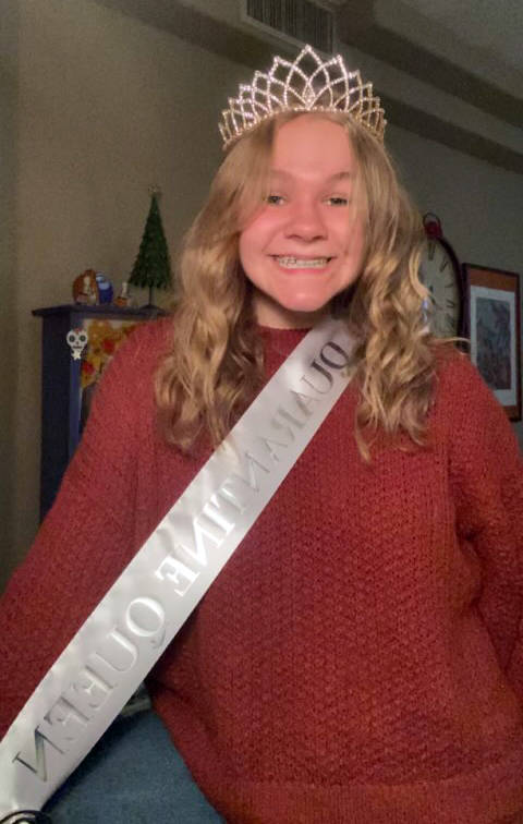 Boulder City High School Senior Abbi Matthews is crowned the 2020 Homecoming queen for Boulder ...