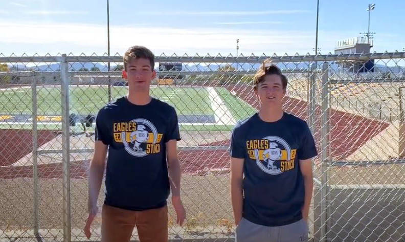 Boulder City High School Student Body President senior Seth Woodbury, left, and Student Body Vi ...