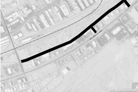 Boulder City City Council approved moving forward with designing an access road for the propos ...