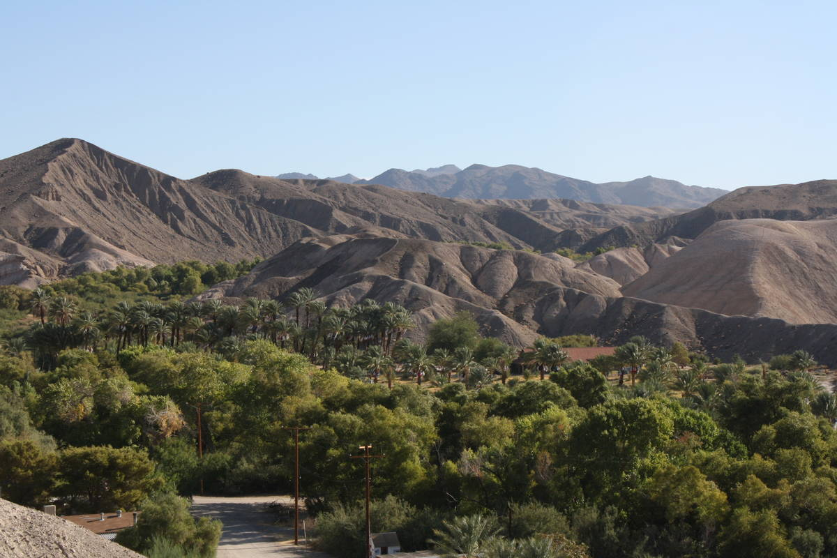 (Deborah Wall) From the Mesa Trail, hikers get a great bird's-eye view of China Ranch Date Fa ...