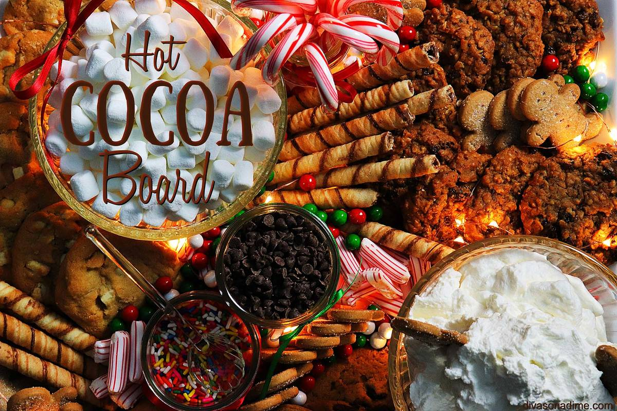 (Patti Diamond) A hot cocoa board filled with treats helps turn drinking an ordinary beverage i ...