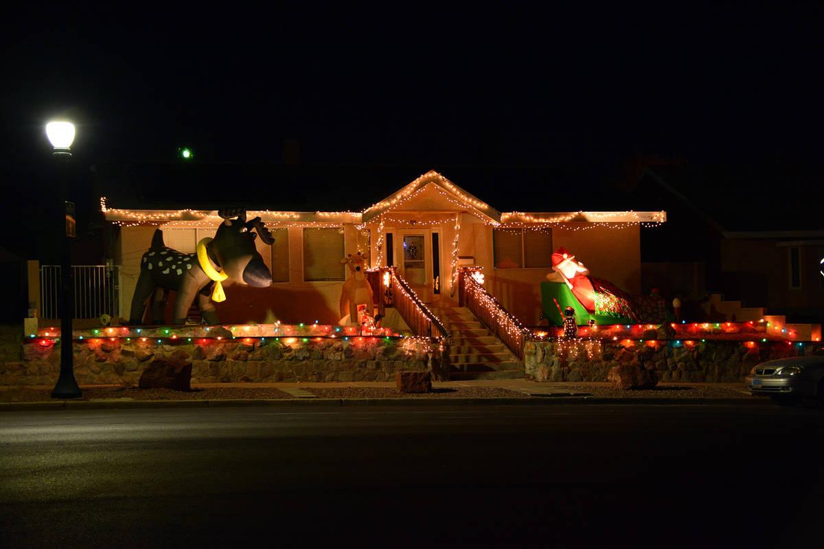 Celia Shortt Goodyear/Boulder City Review This home in the 500 block of Utah Street has lights ...
