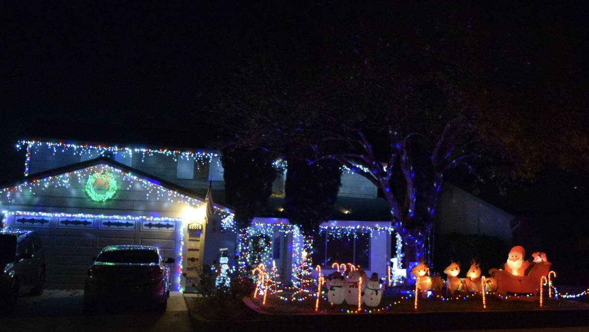 Dennis Chatwin The home at 1405 Bronco Road is lit up every night from 5:30-9 p.m.