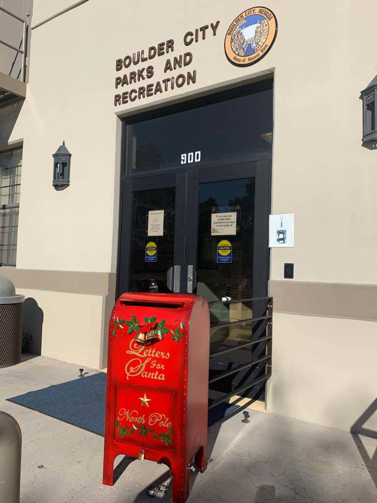(Boulder City Parks and Recreation Department) A special mailbox for children to drop off their ...