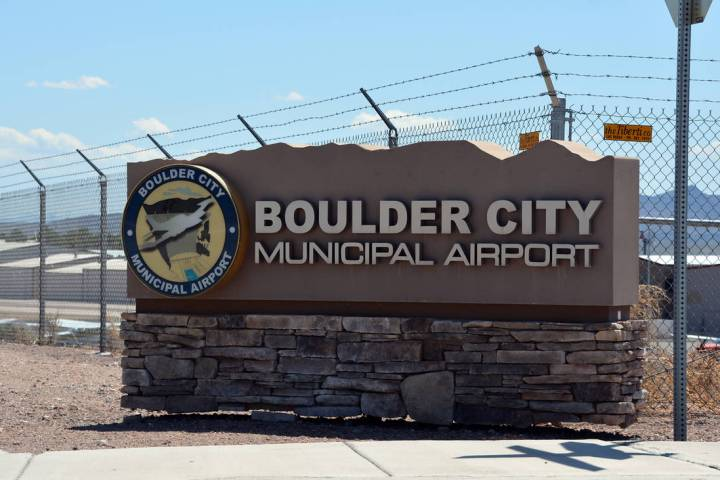 The installation of an air traffic control tower at the Boulder City Municipal Airport is part ...
