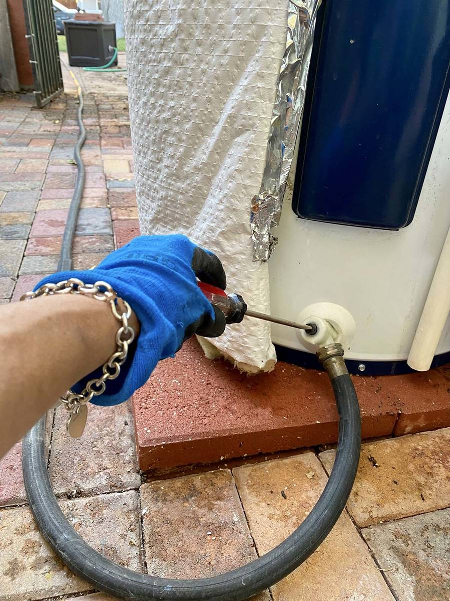 (Norma Vally) Attach a hose to your water heater to drain of any sediment that may accumulate a ...