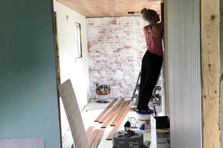 Hannah Doss Hannah Doss renovates a railroad car she purchased at an auction in 2017. She turne ...