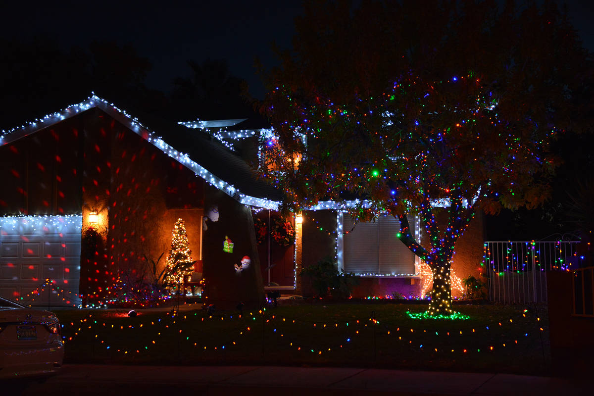 Celia Shortt Goodyear/Boulder City Review Multicolored twinkling lights and white dangling one ...