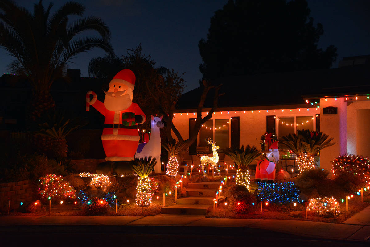 Celia Shortt Goodyear/Boulder City Review Santa Claus and some of his reindeer are visiting th ...