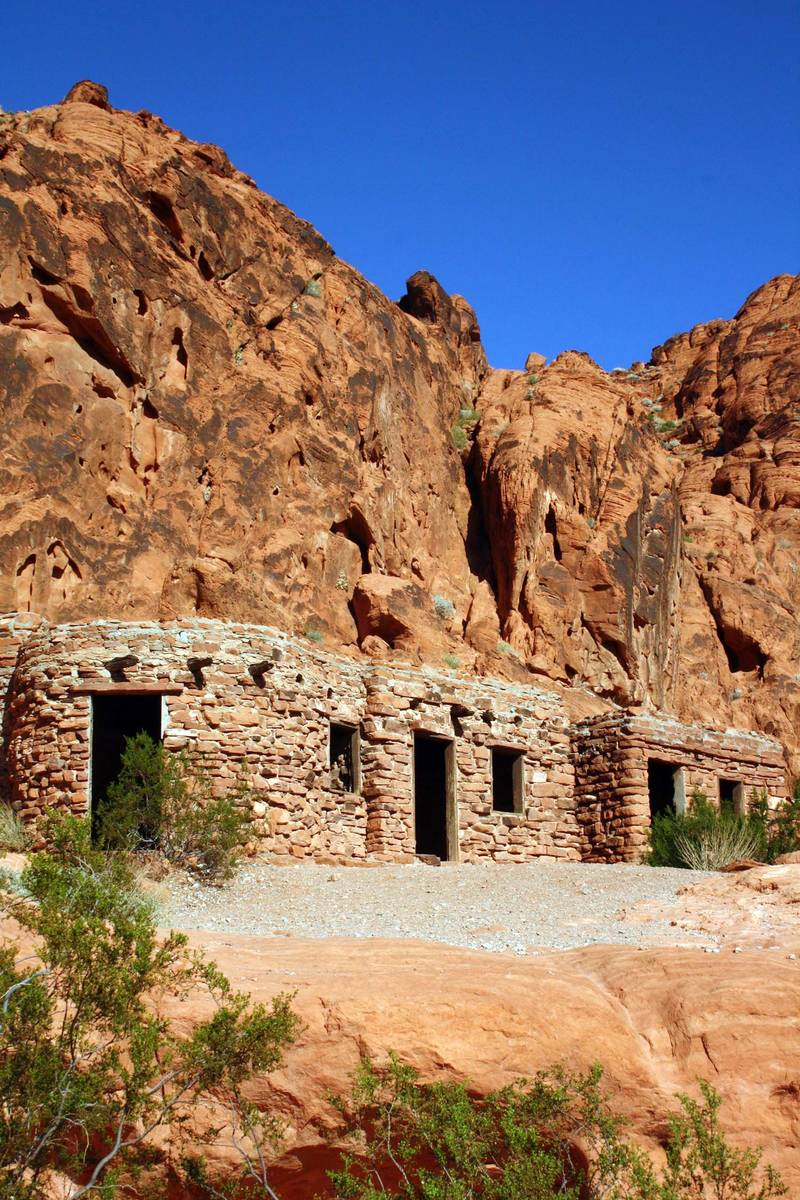 (Deborah Wall) The Civilian Conservation Corps built these sandstone cabins in 1934 at Valley o ...