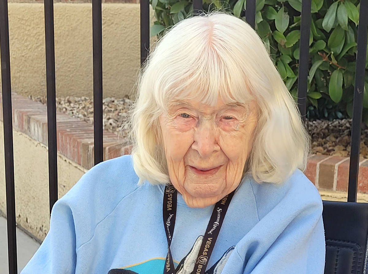 Celia Shortt Goodyear/Boulder City Review Dorothy Burns turns 103 on Monday, Dec. 7, 2020. She ...