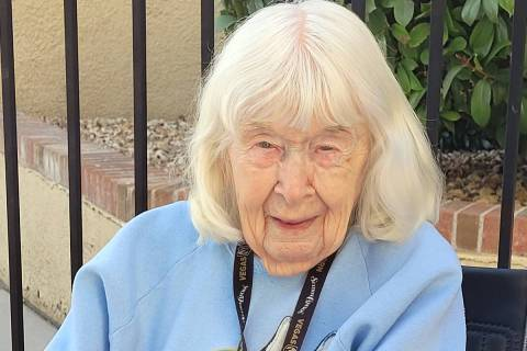 Celia Shortt Goodyear/Boulder City Review Dorothy Burns turns 103 on Monday, Dec. 7, 2020. She ...