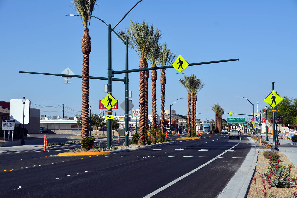 The complete street improvement project on Boulder City Parkway was finished in the summer.