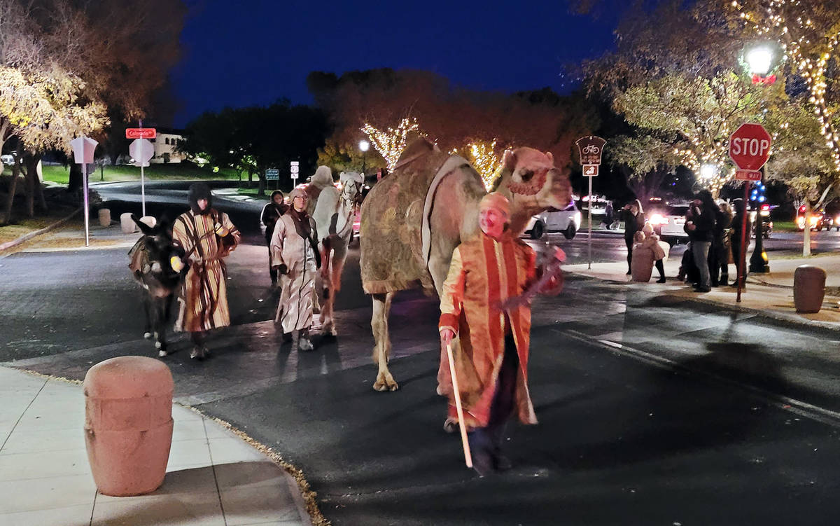 Celia Shortt Goodyear/Boulder City Review Two camels and a donkey came to Boulder City to march ...