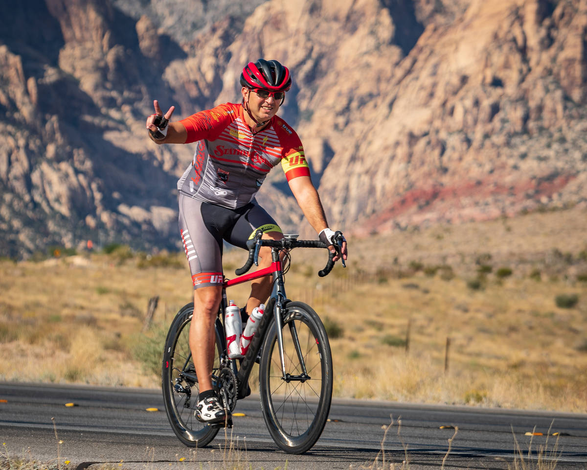 (Hugh Byrne/Breakaway Cycling) Aksoy Ahmet, seen during a 2018 ride in the Red Rock National Co ...