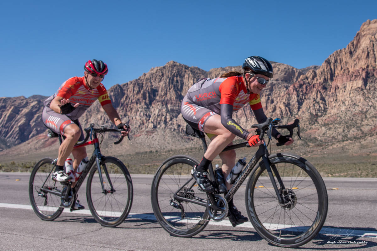 (Hugh Byrne/Breakaway Cycling) Aksoy Ahmet and his wife, Angela, are seen during a 2018 ride in ...