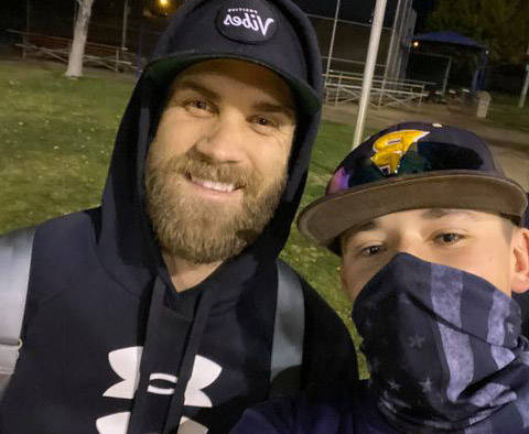 (Katie Kilar) Bryce Harper, left, who was raised in Las Vegas and now plays for the Philadelphi ...