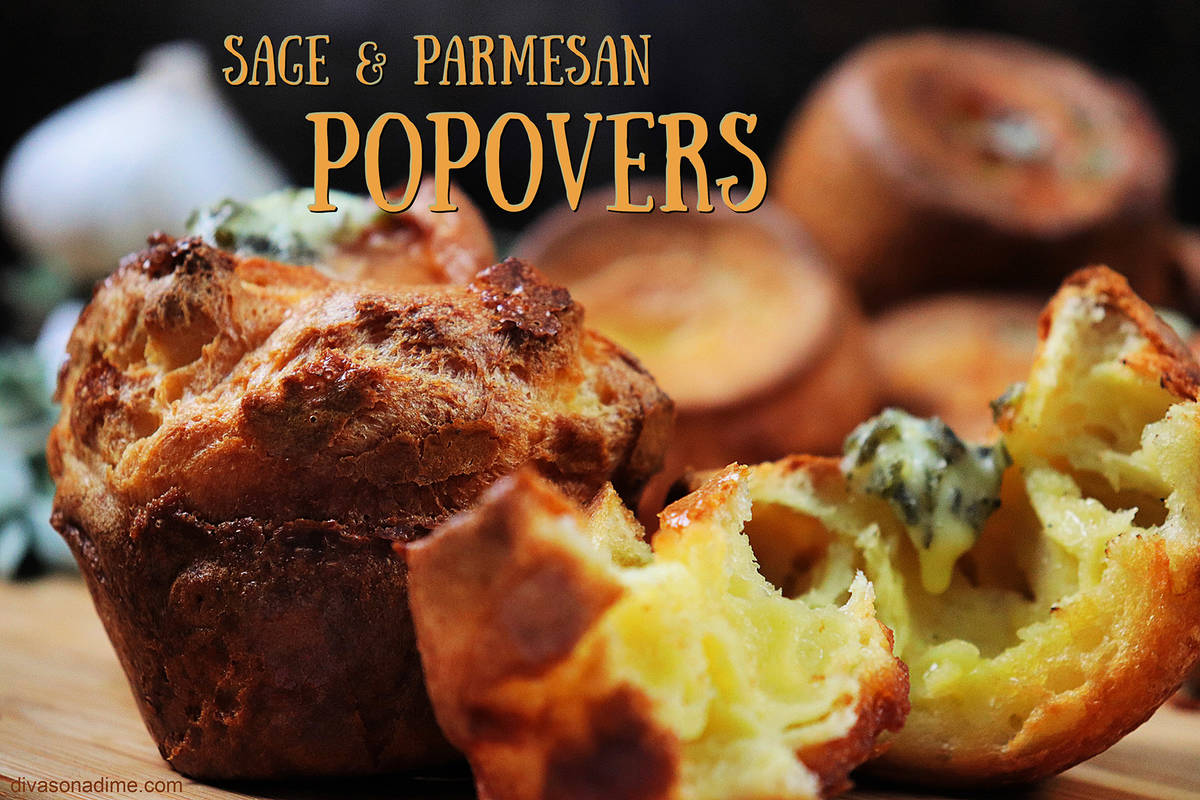 (Patti Diamond) Popovers, infused with garlic, sage and Parmesan, turn an ordinary meal into so ...
