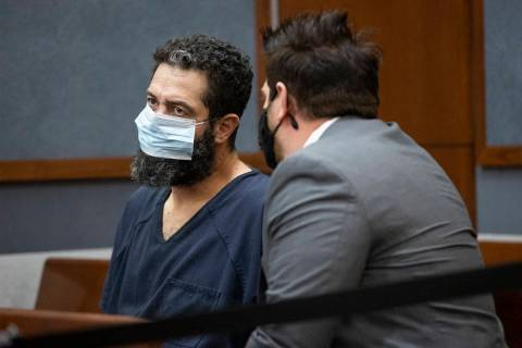 (Erik Verduzco / Las Vegas Review-Journal) Jordan Barson, left, charged with DUI in crash that ...