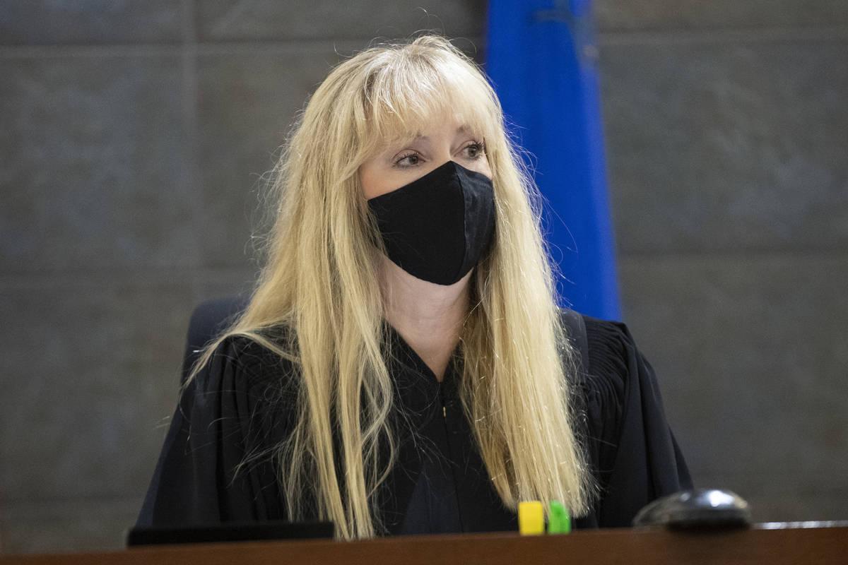 (Erik Verduzco / Las Vegas Review-Journal) Judge Suzan Baucum speaks at the Regional Justice Ce ...