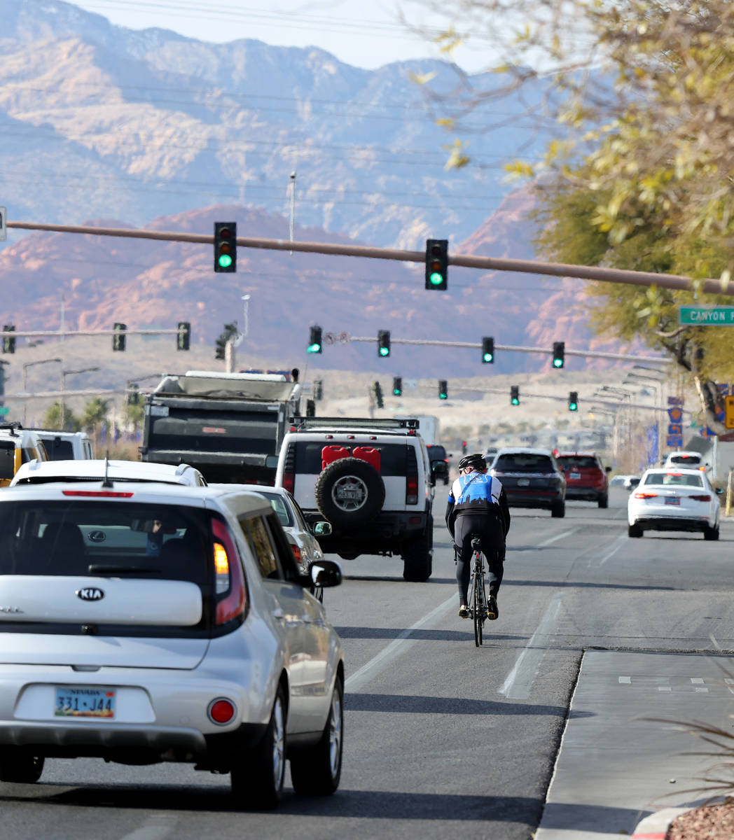 (K.M. Cannon/Las Vegas Review-Journal) Sgt. Michael Campbell, a traffic sergeant with the Clark ...