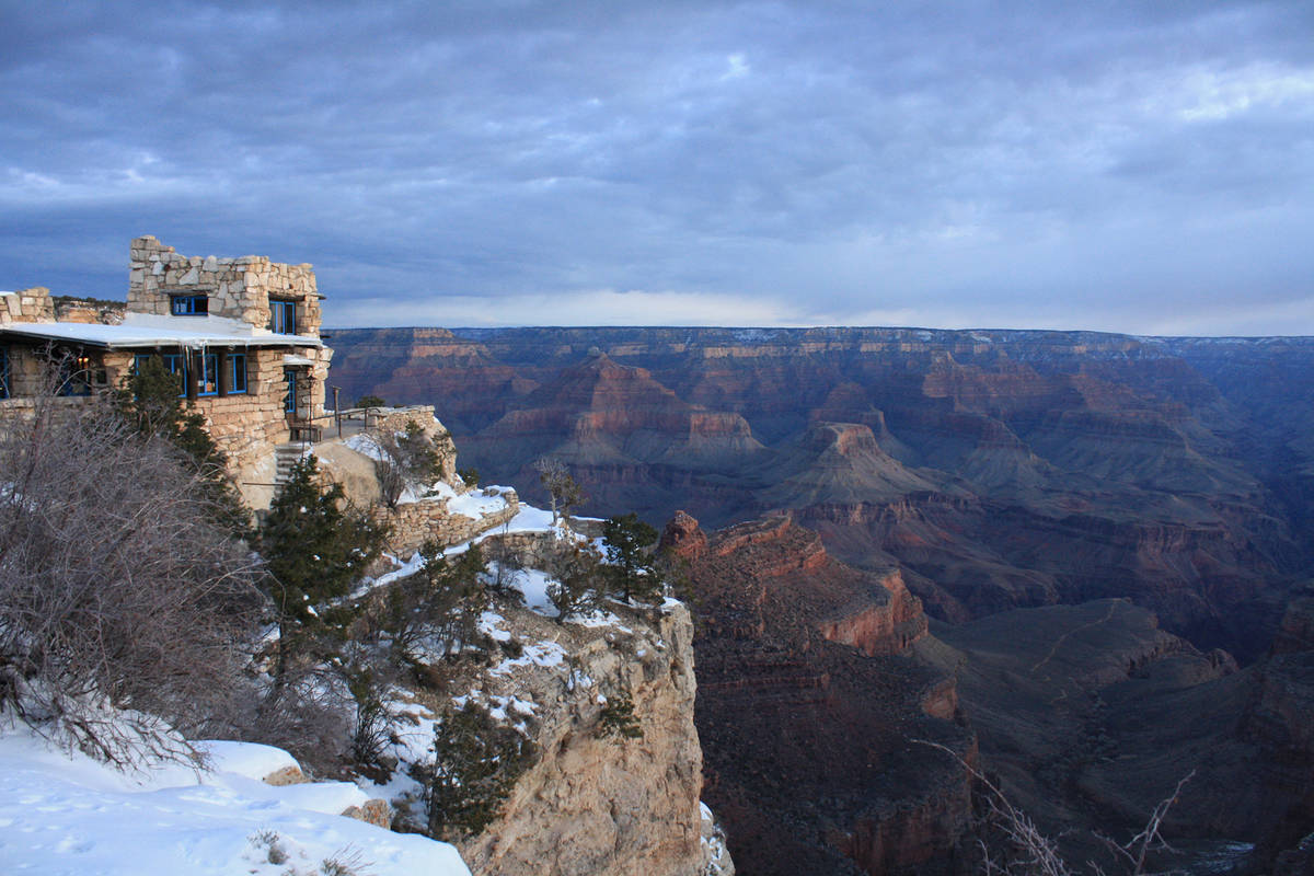 (Deborah Wall) Kolb Studio sits directly on the rim of the Grand Canyon in the Arizona national ...