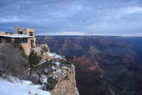 (Deborah Wall) Kolb Studio sits directly on the rim of the Grand Canyon in the Arizona national ...
