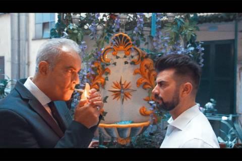 """Kris Krainock Roberto Guadagnoli, left, portrays Death in Kris Krainock's short film """"Bizarro e ..."""