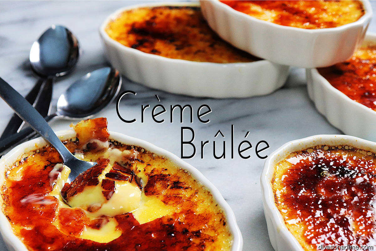 (Patti Diamond) Creme brulee, a creamy velvety custard with a glasslike carmelized sugar top, m ...