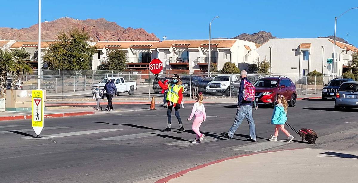 Celia Shortt Goodyear/Boulder City Review Local crossing guards are back in action helping stud ...