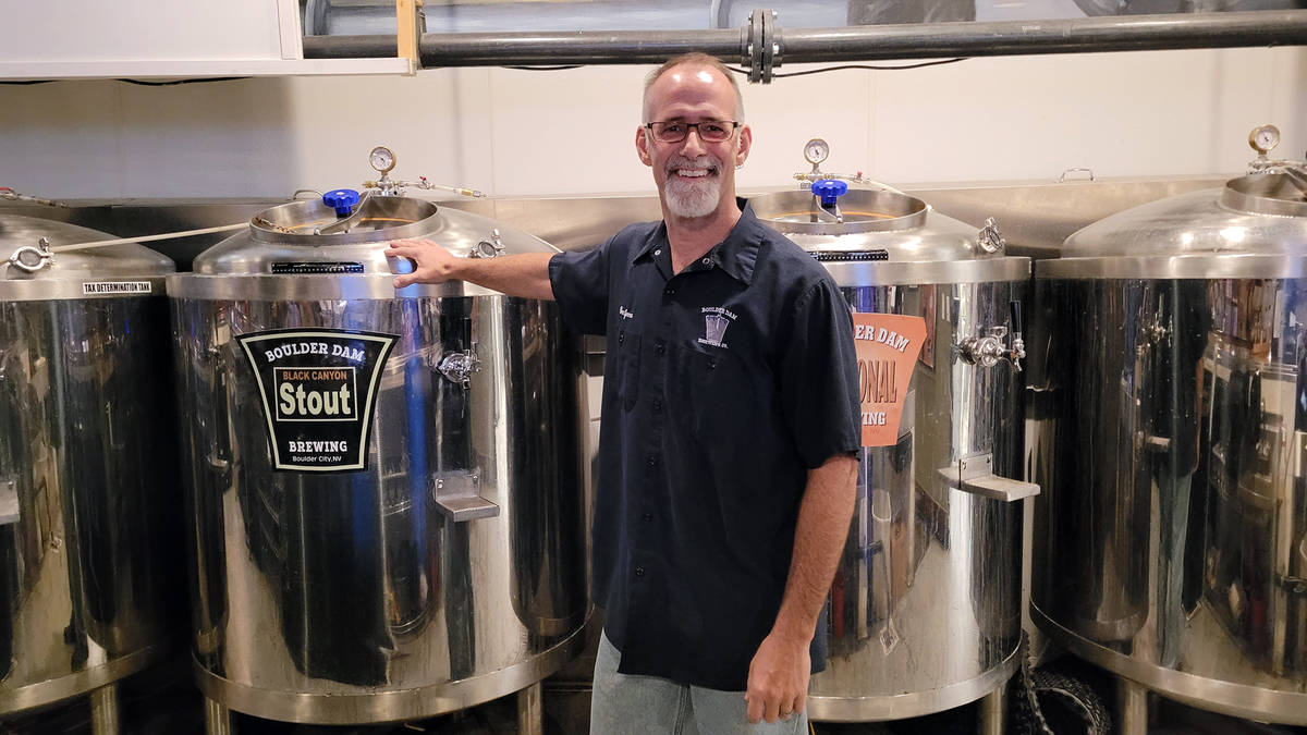 Celia Shortt Goodyear/Boulder City Review Todd Cook, owner of Boulder City Brewing Co., has sta ...