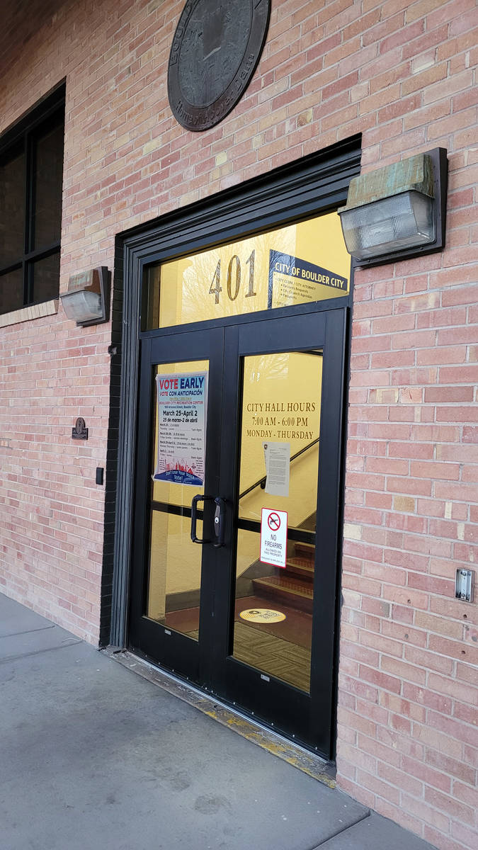Celia Shortt Goodyear/Boulder City Review City Hall, 401 California Ave., still isn't fully ope ...