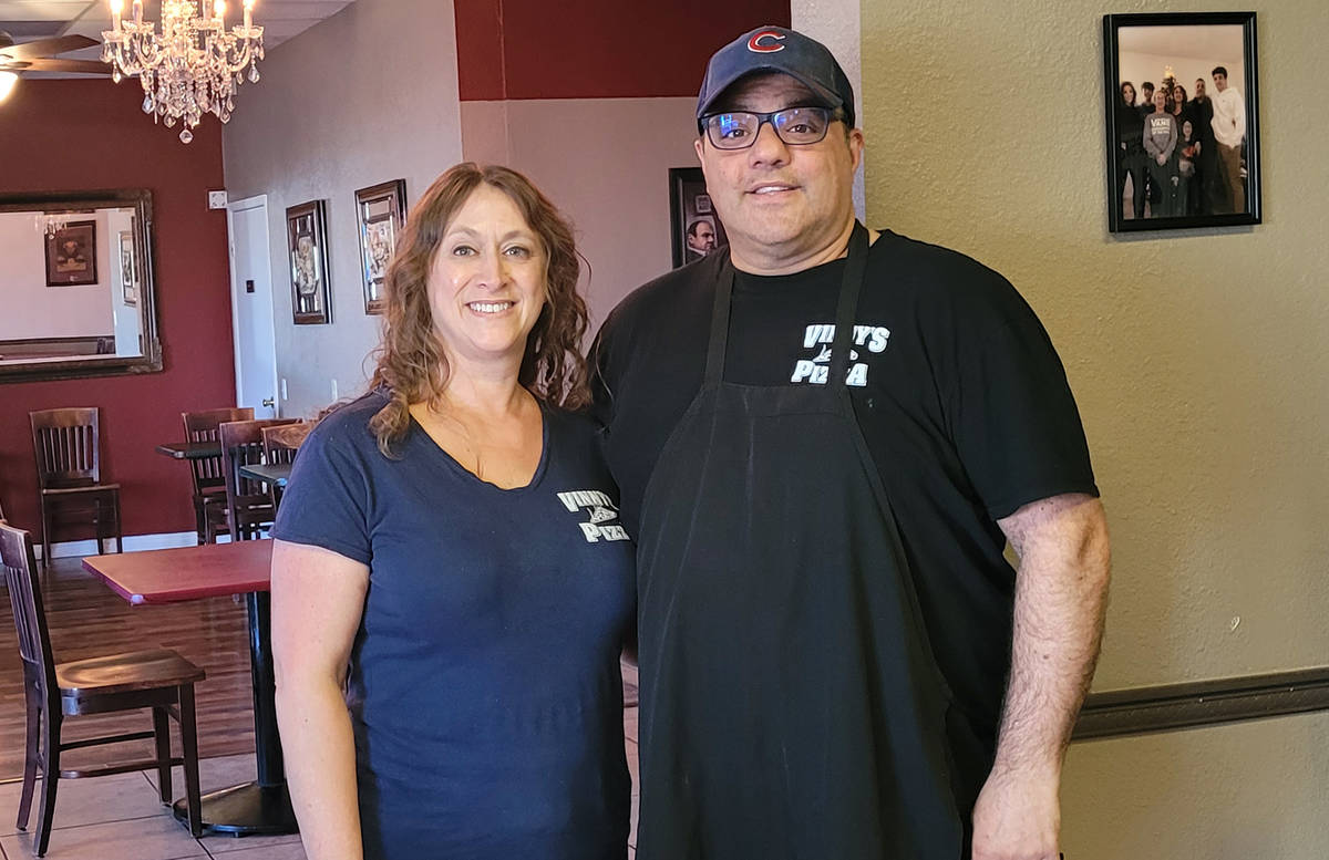 "Celia Shortt Goodyear/Boulder City Review Vincenzo ""Vinny"" Cimino and his wife, Tina, were rece ..."