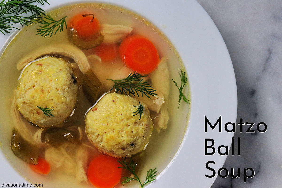 (Patti Diamond) Matzo ball soup is a traditional offering during Passover, which begins at sund ...