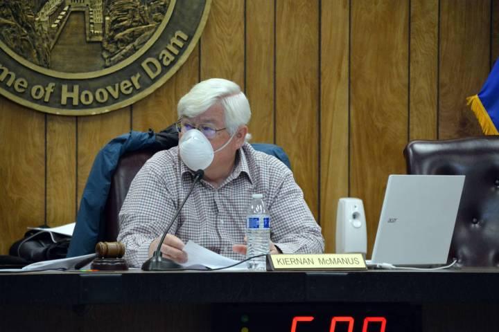 Celia Shortt Goodyear/Boulder City Review Mayor Kiernan McManus discusses moving forward with c ...