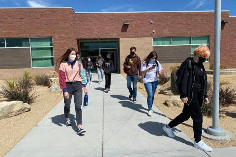 Boulder City High School Boulder City High School students are dismissed Monday, March 22, afte ...