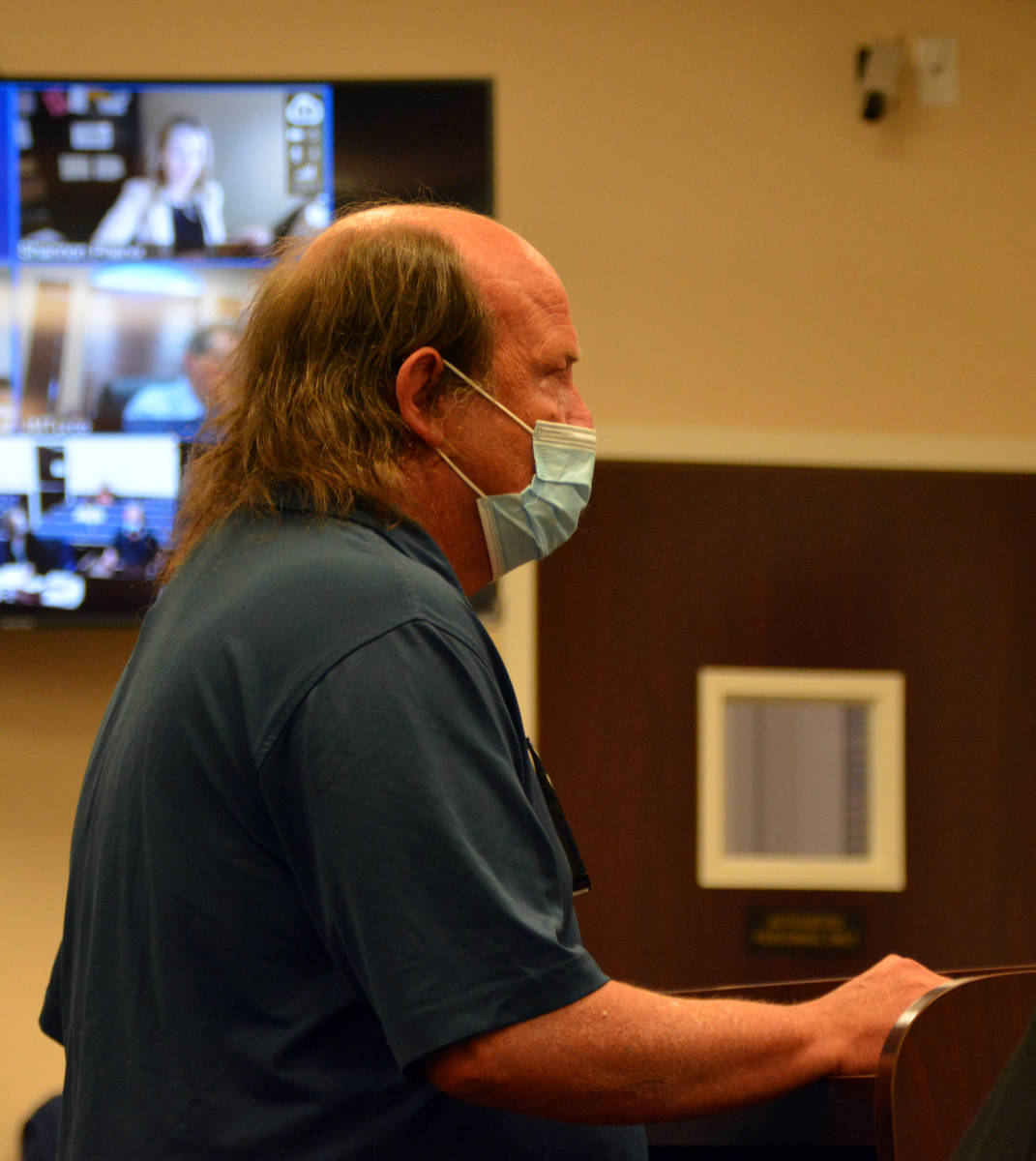 Celia Shortt Goodyear/Boulder City Review Terry Chastain is arraigned for a misdemeanor charge ...