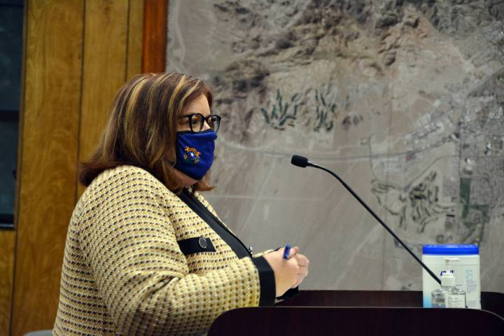 Celia Shortt Goodyear/Boulder City Review Nye County Deputy District Attorney Christi Kindel an ...