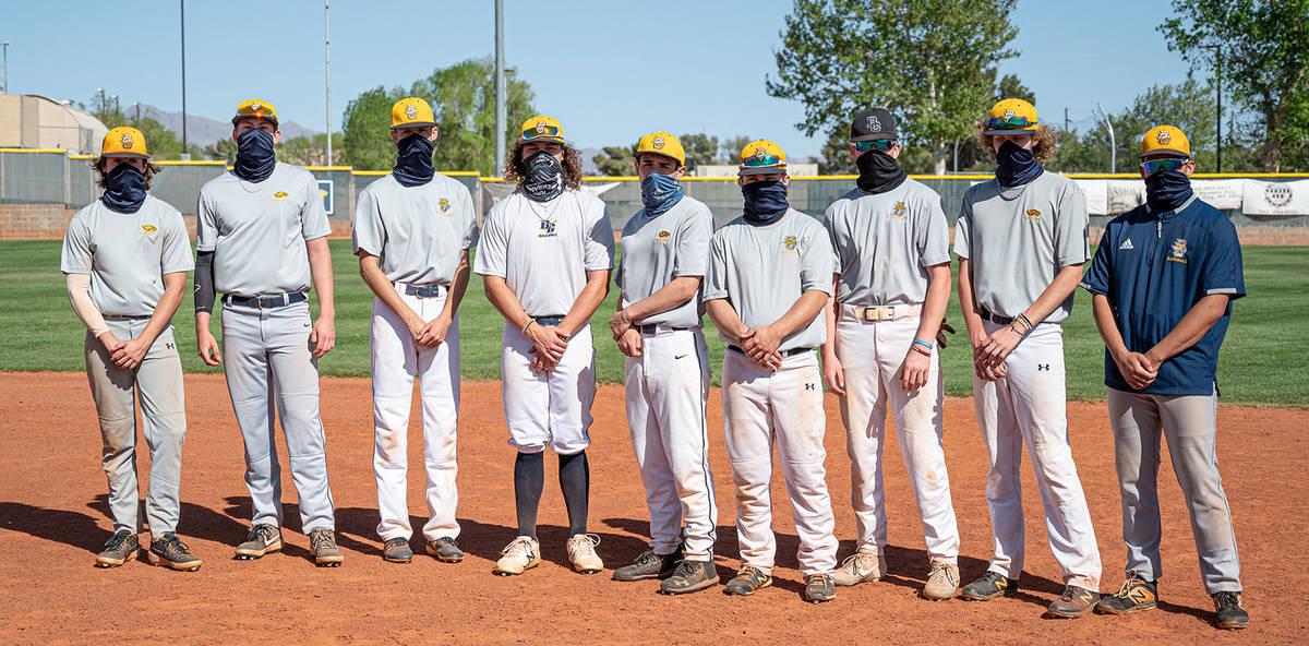 (Jamie Jane/Boulder City Review) Members of Boulder City High School's varsity baseball ...